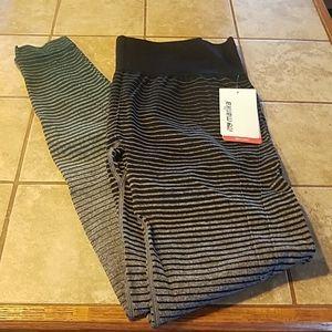 NWT, MARIKA Ombre stripe leggings.